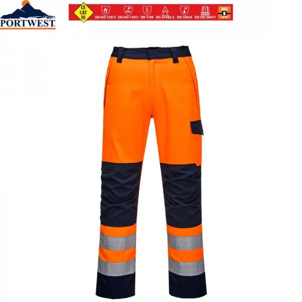 "Multinorm-Warnschutzhose ""Modaflame"" orange"