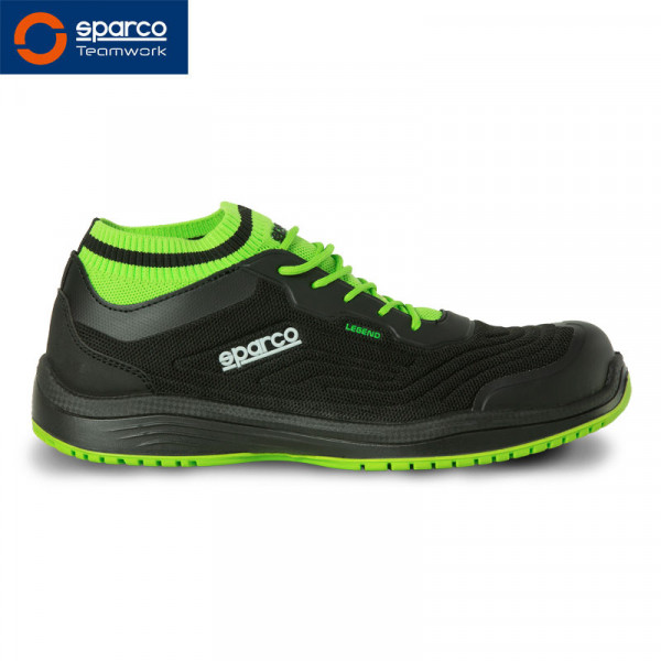 "Sparco Halbschuh ""Legend black green"" S1P ESD"
